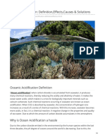 Ocean Acidification Definition,Effects,Causes & Solutions
