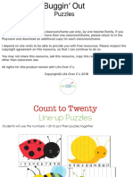 Bug Puzzles for Counting to 20
