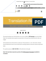 Translation Rates & Costs - Pricing Information