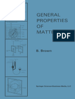 B. Brown B.sc., Ph.D., F.inst.P (Auth.) - General Properties of Matter-Springer US (1969)