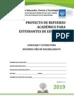 Primera Prueba de Avance de Lenguaje y Literatura-Segundo Año de Bachillerato 2019