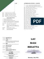 Brûlé Regatta 2019 - Program - Final