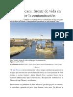 Contaminacion Del Lago Titicaca ANTONY
