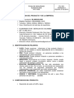 Ficha Tecnica Del Hipoclorito Berhlan