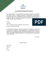 Anexo III Modelo de Responsabilidade Técnica