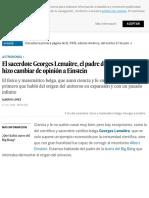 El sacerdote Georges Lemaître, el padre del Big Bang que hizo cambiar de opinión a Einstein | Cienci