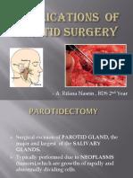 Complications of Parotid Surgery