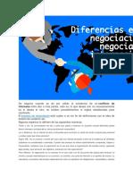 Negociacion Internacional-diferencis Entre Negociacionj Nacional e Internacional