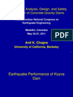 EARTHQUAKE ANALYSIS, DESING, AND SAFETY EVALUATION OF CONCRETE GRAVITY DAMS
