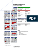 2019-2020 Student Calendar