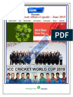 Monthly Current Affairs Capsule June 2019