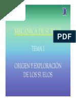 ORIGEN Y EXPLORACION DE SUELOS