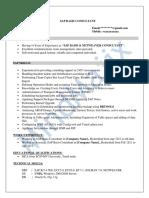 SAP Basis Sample Resume 3