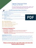 young  kindergarten discipline plan