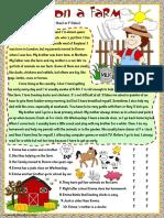 Living on a farm worksheet