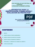 2. Herramientas Para La Identificación, Formulación y Evaluación de Proyectos