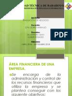 Areas Financieras Simulacion de Negocos