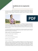 Conoce Los Beneficios de La Respiración Diafragmática