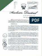 Publicación de Resolución Directoral Nº016-2015-DIRNGI-PNP