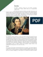 José de San Martín Primera Parte