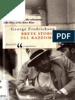 George M. Fredrickson - Breve storia del razzismo