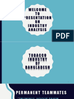 Industry Analysis of Tobacco Industry of Bangladesh