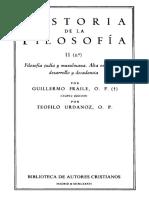 FRAILE, G. y URDANOZ, T., Historia de La Filosofia, Vol. II-2 (Filosofía Judia y Musulmana. Alta Escolastica), 4 Ed., 1986