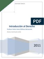 Materia Jaime Williams Benavente (Introduccion Al Derecho 2011)