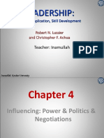 Chapter 04 Influence Power Politics & Negotiations