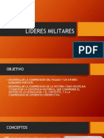 LÍDERES MILITARES