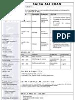 IU Resume Format - TEMPLATE Repaired)