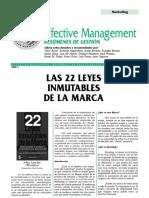 Las 22 Leyes Inmutables de La Marca - Resumen