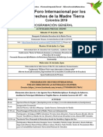 Programacion General 3fidmt Colombia 2019