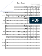 Baby Shark for Marching Band-Partitura e Partes