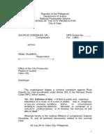 Complaint Affidavit Libel NO JUDI AFFI