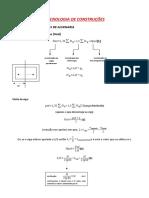 tecnologia das construções formulário