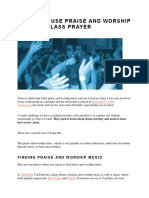 7 Ways to Use Praise and Worship Music in Class Prayer