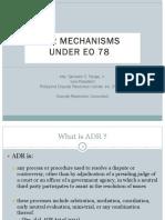 ADR Mechanisms - EO 78