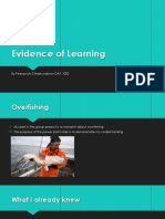 evidence of learning envi