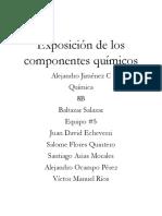 Exposición de los componentes químicos Trabajo Escrito