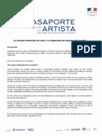 Bases Pasaporte Para Un Artista 2019 f