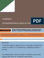 Entrepreneurial Ideas & Opportunities