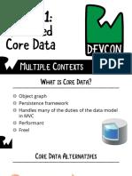 Slides 1 Advanced Core Data