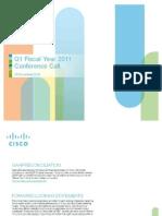 Cisco Q1FY11 Earnings Slides