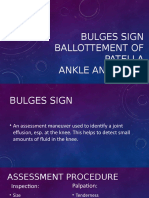 Bulges sign