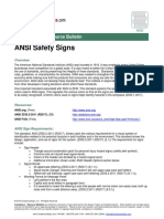 Ansi Safety Sign