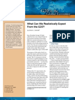 What Can We Realistically Expect From the G20?