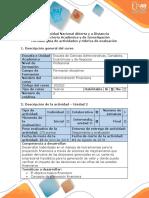 Guía de Actividades y Rúbrica de Evaluación - Paso 3 - Evaluación Financiera