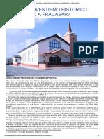 ¿Esta El Adventismo Historico Condenado a Fracasar