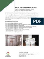 Online Transformer Oil Leakage Kit